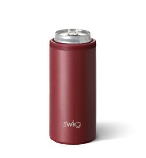 Swig 12oz Skinny Can Cooler-Matte Maroon