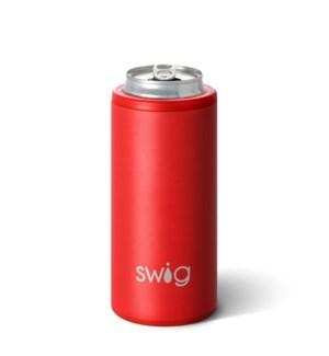 Swig 12oz Skinny Can Cooler-Matte Red