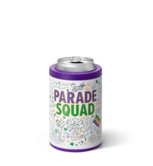 Swig 12oz Can Cooler-Mardi Gras Parade Squad