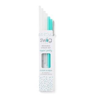 Clear & Aqua Short Straw Set ETA: EARLY SEPT