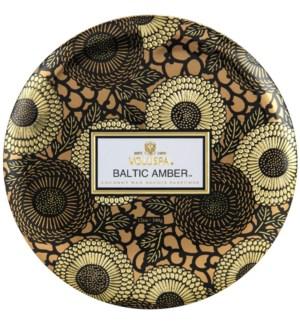 Baltic Amber 3W Tin Candle