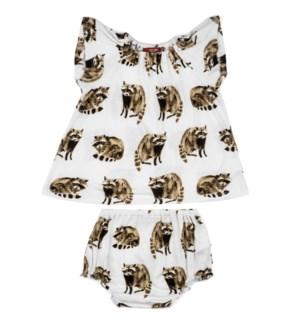 Bamboo Dress Set Raccoon 3-6M