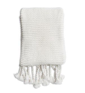 Comfy Knit Throw White