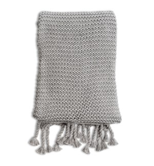 Comfy Knit Throw Gray
