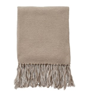 Essential Knit Throw Stone