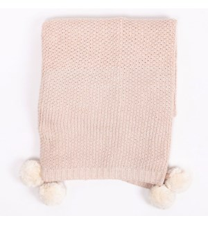 Bodhi Knit Throw Blush