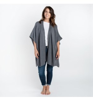Organic Cotton Arden Poncho Gray