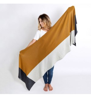 Dreamsoft Travel Scarf Bronze Colorblock