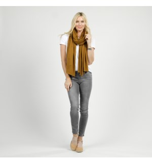 Bubble Knit Travel Scarf - Bronze