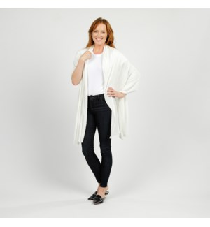 Bubble Knit Travel Scarf Ivory