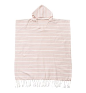 Organic Cotton Bondi  Adult Poncho Whisper Pink