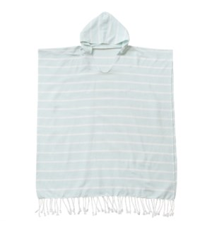 Organic Cotton Bondi  Adult Poncho Sky Blue