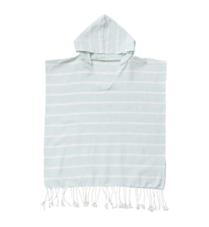 Organic Cotton Bondi  Kids Poncho Sky Blue