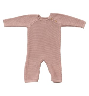 Knit Baby Romper (Long) Berry 6-12M