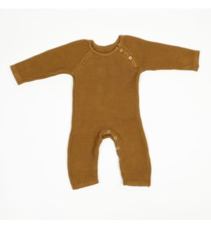 Knit Baby Romper (Long) Bronze 6-12M