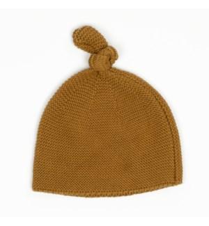 Cozy Top Knot Hat - Bronze