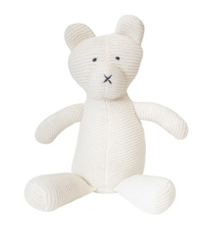 Organic Cotton Classic Knit Bear (White)