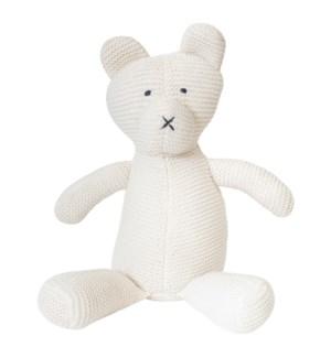 Organic Cotton Classic Knit Bear (White)