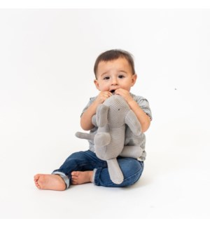 Organic Cotton Classic Knit Elephant (Gray)
