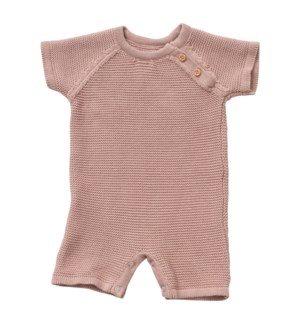 Knit Baby Romper (Short) Berry 6-12M