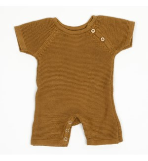 Knit Baby Romper (Short) Bronze 6-12M