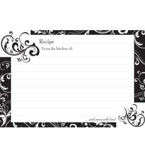 Black & White Recipe Cards