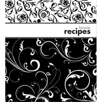 Black & White Recipe Binder