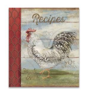 Barnyard Rooster Recipe Binder