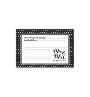 Mr. And Mrs. Recipe Cards