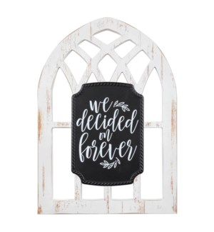 Decided On Forever Arched Window Sgn