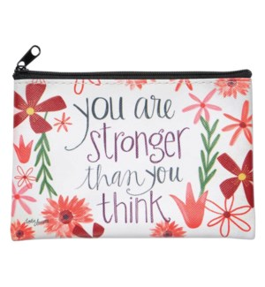 Stronger Than You Think Zippered Coin Purse