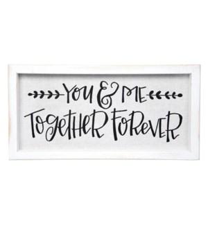 You & Me Framed Linen Sign