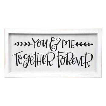 You & Me Framed Linen Sign*