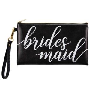 """Bridesmaid"" Wedding Zippered Bag"