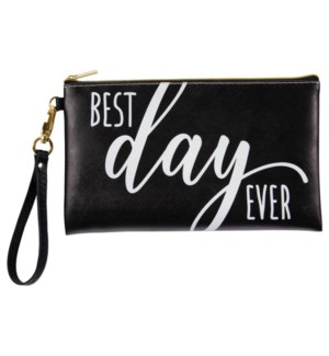 Best Day Ever Wedding Zippered Bag