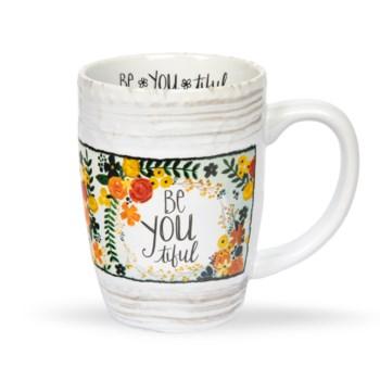 Be-You-Tiful Floral Mug