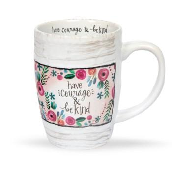 Have Courage Floral Mug*