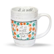 It Is Well Floral Mug*