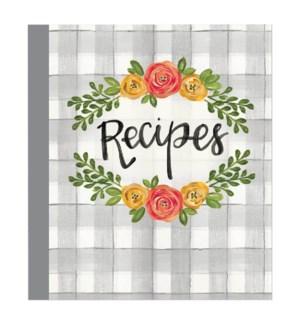 Floral Kitchen Recipe Binder