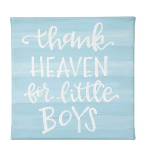 Thank Heaven For Little Boys Canvas Sign