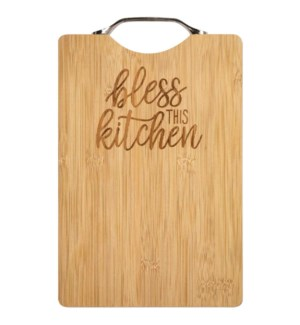 Bless This Kitchen Bamboo Cutting Board