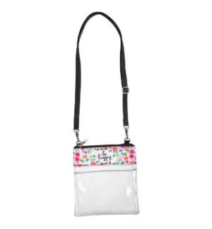 Be Happy Clear Crossbody Bag*