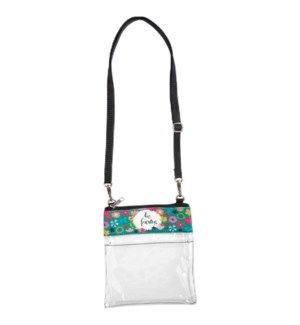 Be Fearless Clear Crossbody Bag*