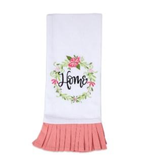 Home Embroidered Tea Towel