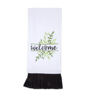Welcome Embroidered Tea Towel