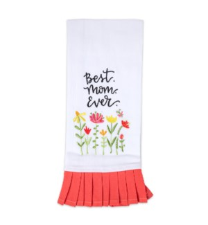 Best Mom Ever Embroidered Tea Towel