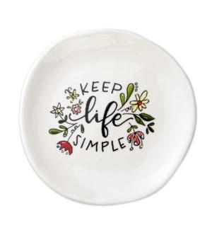 Keep Life Simple Trinket Tray