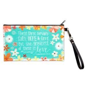 Faith Hope Love Zippered Bag*