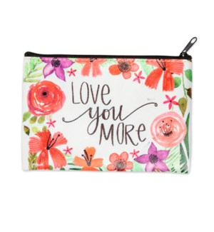 Love You More Zippered Coin Purse