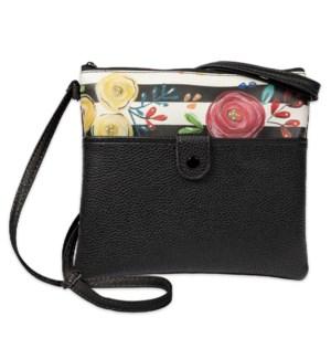 Bella Caroline Black Crossbody Bag